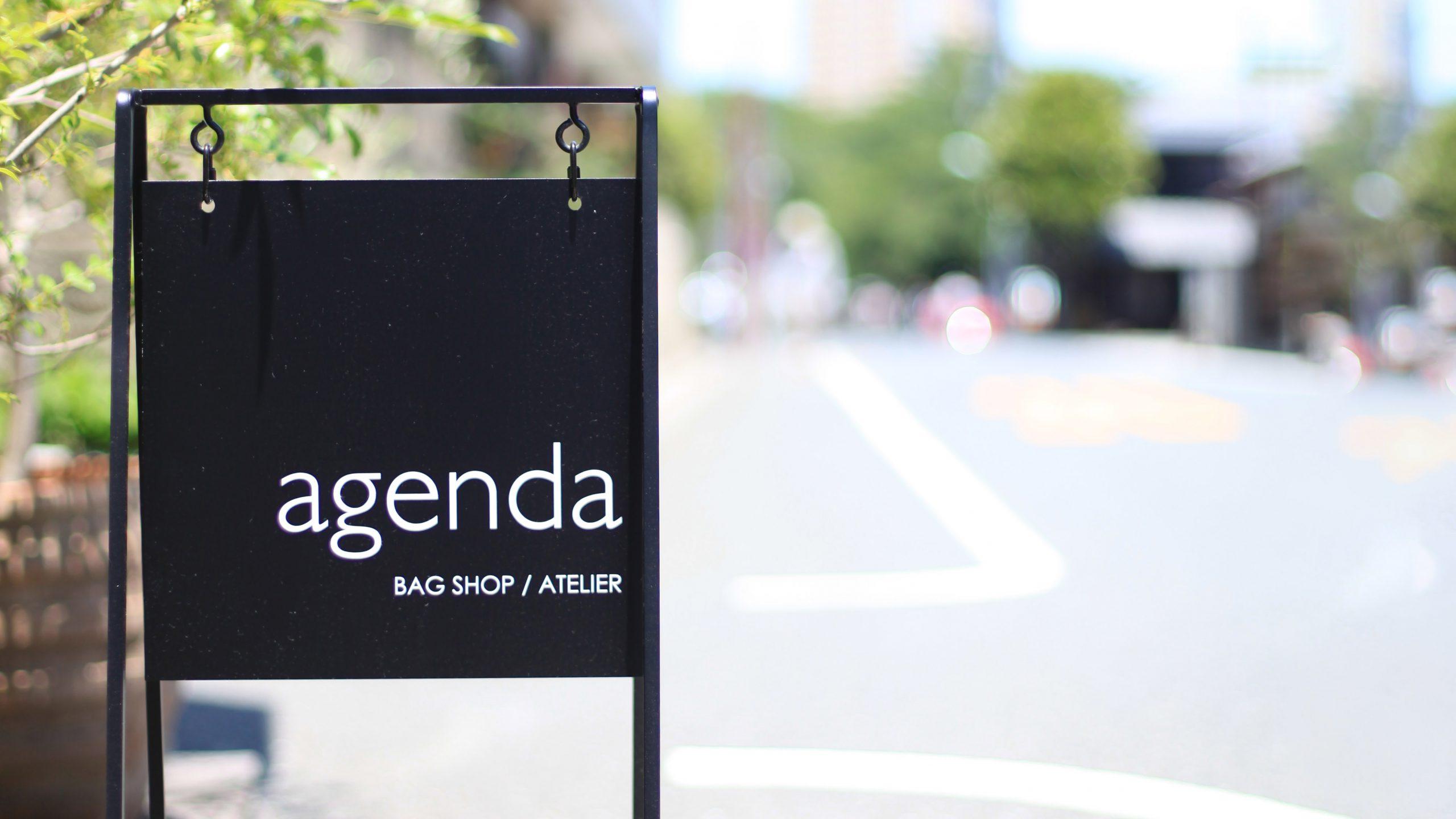 agenda / アジェンダ 歴史ある寺町にそっと溶けこむバッグのショップ兼アトリエ